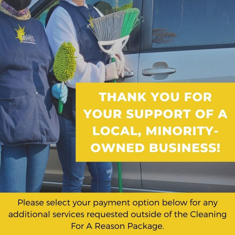 Thank You for booking Cleaning for A Reason package